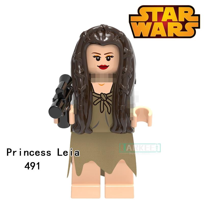 Building Blocks Princess Leia Ponda Baba Zander Super Heroes Star Wars Action Bricks Dolls Kids DIY Toys Hobbies XH491 Figures