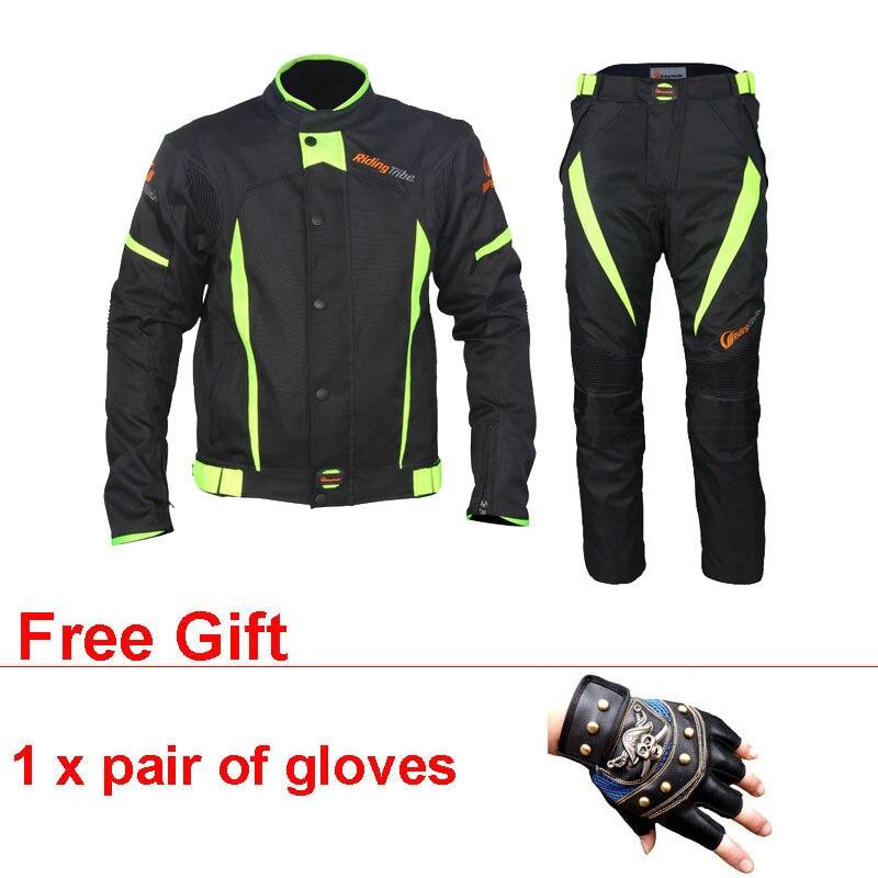 Coupe-vent Motocross Protecteur ensemble de pignons Combinaison Moto Moto Veste Pantalon Jersey costume de course Vêtements Chaqueta Moto Course