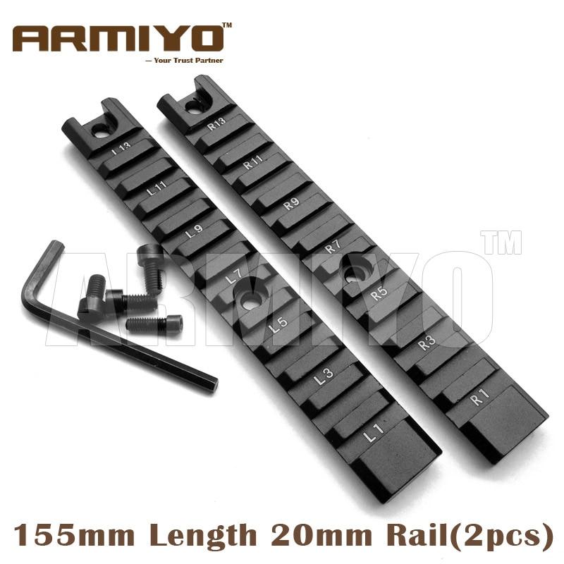 Armiyo G36C Aluminum Weaver 20mm Picatinny 155mm Long Rail Set (2pcs) Handguard Rack Hunting Shooting Accessories