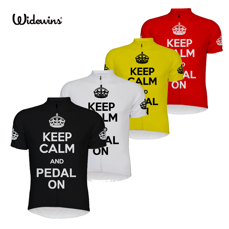 new Cycling Jersey Short Sleeve bike bicycle jerseys ropa ciclismo 4 Color Summer short sleeve Keep Calm and Pedal On Men 6507