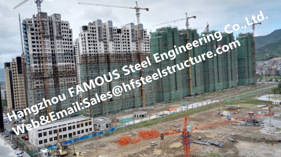 China Manufacturers Prefabricated Industrial High Rise Steel Building For Mall Or Hotel