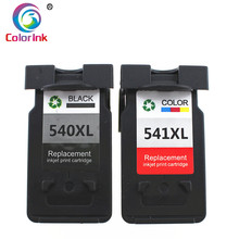 ColoInk 2Pack 540XL 541XL refilled ink replacement for Canon PG540XL CL541XL cartridge MG2100 MG2150 MG2200 MG3150 MG3200 MG3250 hisaint listing best hot remanufactured pg540xl black ink cartridge for canon pixma mg2150 mg3150 printers