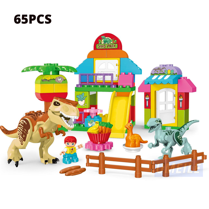 Image 4 - UMEILE 15/39/65/100 PCS Jurassic Dinosaur World Large Building Blocks Toys Animal Set Brick Compatible with brick Gift-in Blocks from Toys & Hobbies