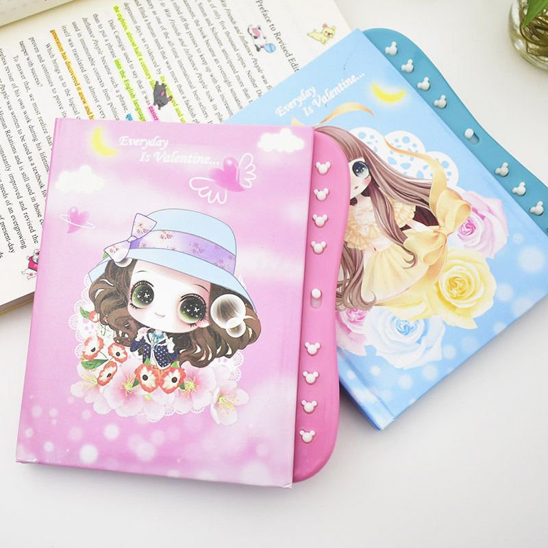 Cute Colorful Diary Notebook With Password Lock School Office Supplies Beauty Girls Journal Book For Kids Gift  Student
