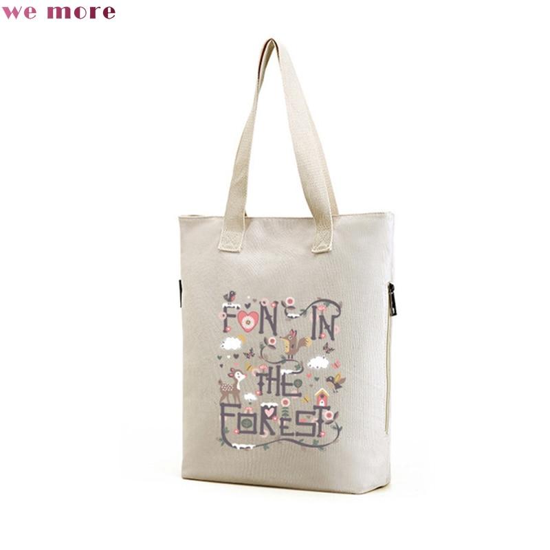 we more brand Fashion Shoulder Bag for Women Original Design Embroidery Floral Totes Soft Casual Half Moon Shopping Bag 2017