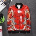 Hot sale!2016New arrival fashion men 3D cardigan jacket hiphop street space cotton coats Autumn personality men Jacket plus size