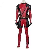 100% реальные Дэдпул Косплей Полный Комплект комбинезон с маской и accessorys костюмы/может таможенные Размер