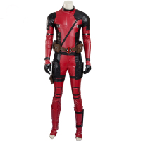 100%real deadpool cosplay full set jumpsuit with mask and accessorys costumes/can customs size