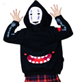 2016 New Harajuku Hoodies Sweatshirts Punk Pullover Black Coat Japanese Anime Spirited Away Free Shipping