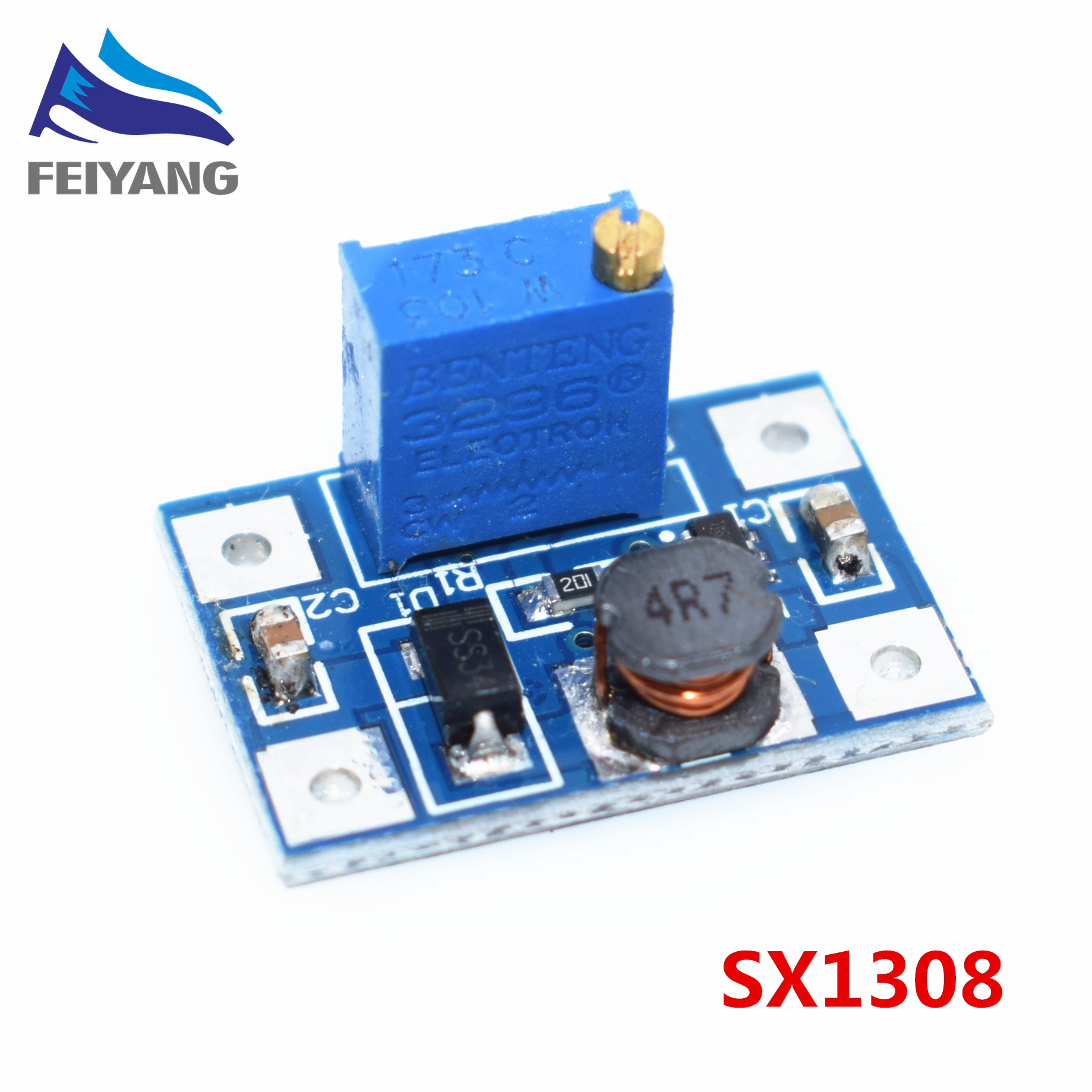 B12 10pcs Smart Electronics DC-DC SX1308 Step-UP Adjustable Power Module Step Up Boost Converter 2-24V to 2-28V 2A