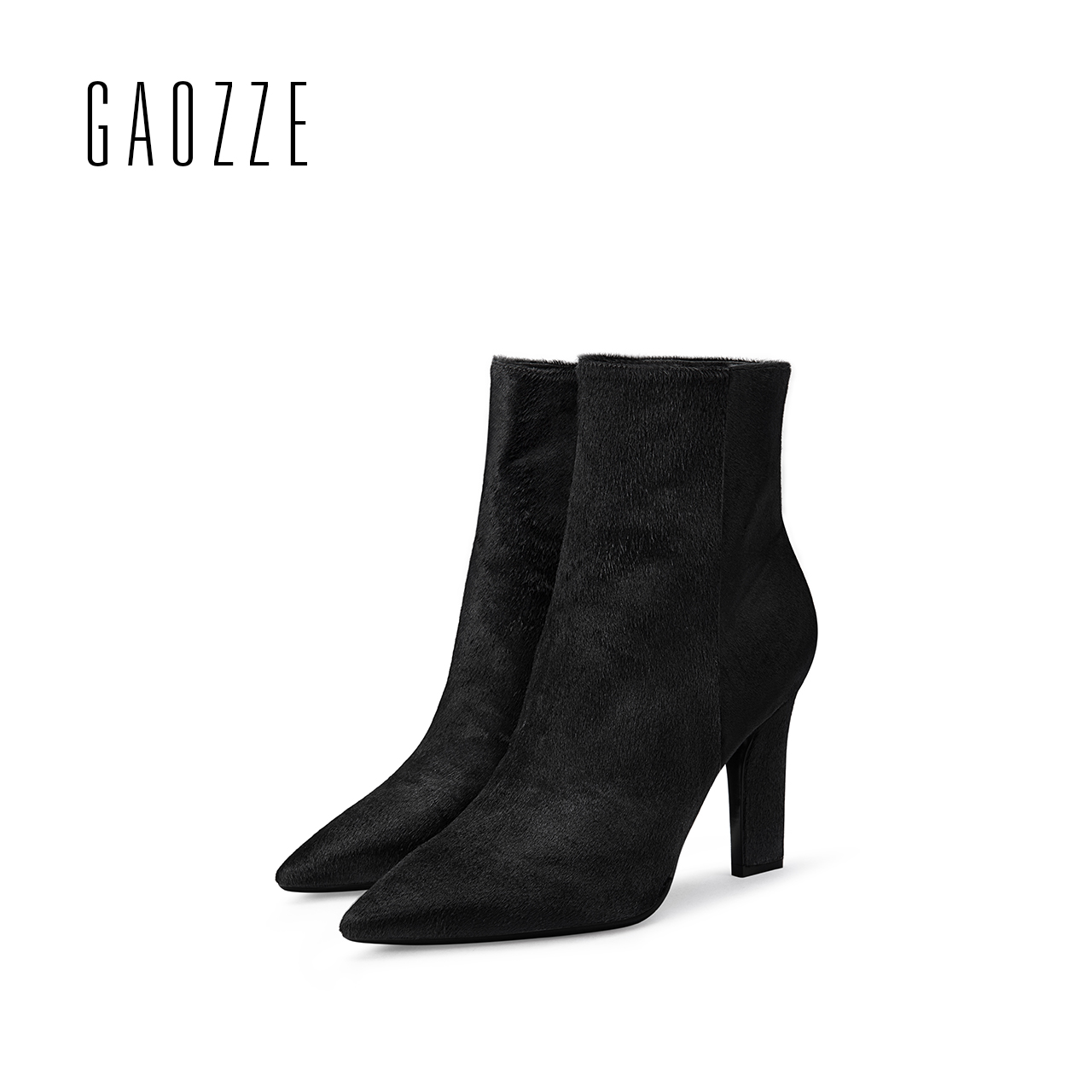 GAOZZE women genuine leather boots 2017 winter new sexy high-heeled pointed ankle boots zipper fashion women boots фильтр maunfeld cf 120
