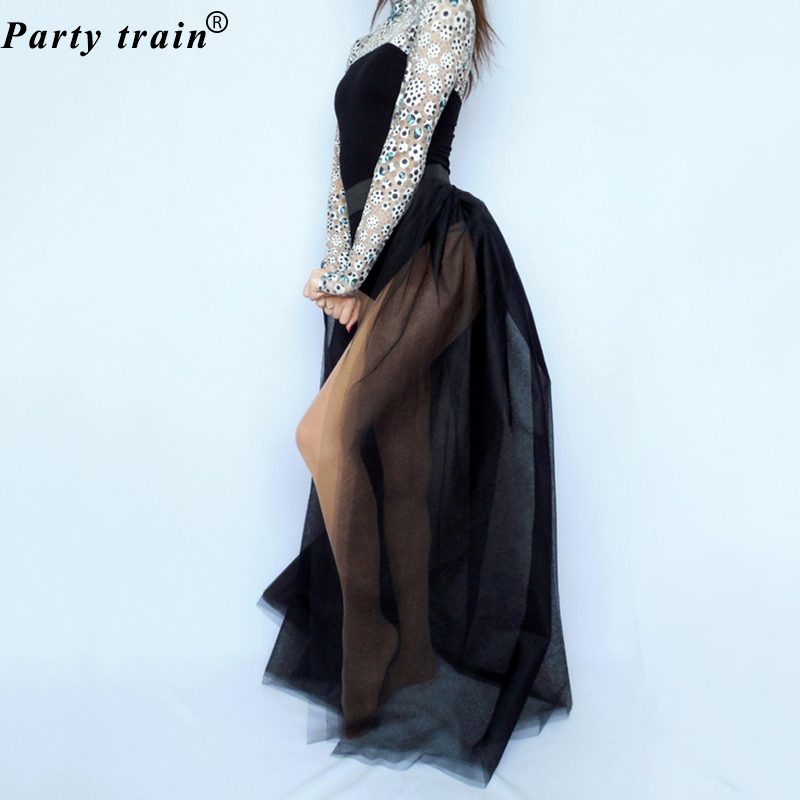 bfe8ad84d6621b 4Layers Black Overlay Skirt Fashion Long Tutu Tulle Skirt Bride Overskirt  Chic Floor Length Saia Longa Detachable Wedding Skirts-in Skirts from  Women's ...