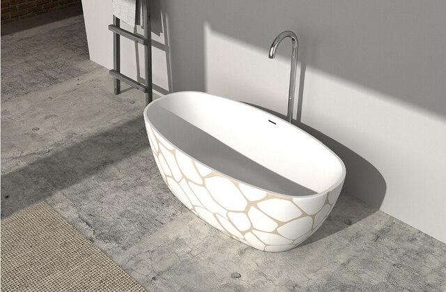 Vasca Da Bagno Resina : Mm resina acrilica ovale colorato vasca di pietra