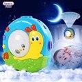 2 Patrones Lindo Bebé Musical Proyector de iluminación Nocturna de Dibujos Animados Lámpara de Dormir Caracol Luna Bebé Brinquedos Juguete Decorativo de la Sala