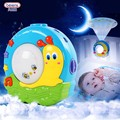 2 Patterns Cute Baby Musical Sleeping Projector illuminating Night Lamp Cartoon Snail Moon Infant Room Decorative Toy Brinquedos