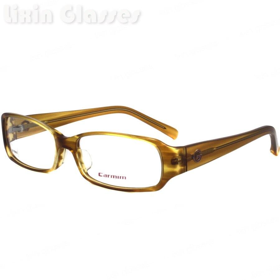 Nuevos hombres de la alta calidad acetato bisagra Demi marrón claro lente  limpia Gafas Marcos ojo Gafas óptico Marcos  gafas lx-b2903 72f93c65a0