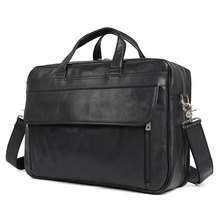 hot deal buy 17 inches laptop bag classic real leather messenger bag office briefcases college bag bolsa maleta famous brand