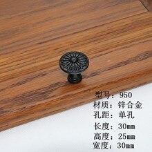 Vintage Black Door Handle Drawer Pulls Dresser Countryside Kitchen Cabinet Furniture Hardware