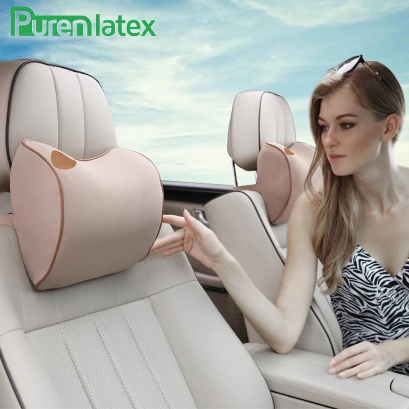 PurenLatex Universal Car Pillow Head Neck Rest Memory Foam Pillow 3D Neck Shoulder Support Headrest Cervical Vertebra Protect