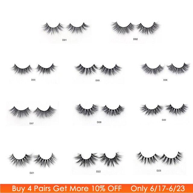 5b20247d14e Visofree Eyelashes 3D Mink Lashes Luxury Hand Made Mink Eyelashes Medium  Volume Cruelty Free Mink False Eyelashes Upper Lashes