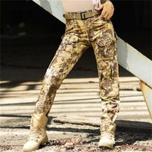 Snake Pattern Camo Print Long Pants Russia Trend Men Military Fans Army Combat Tactical Trousers Black Green Patchwork Outdoor