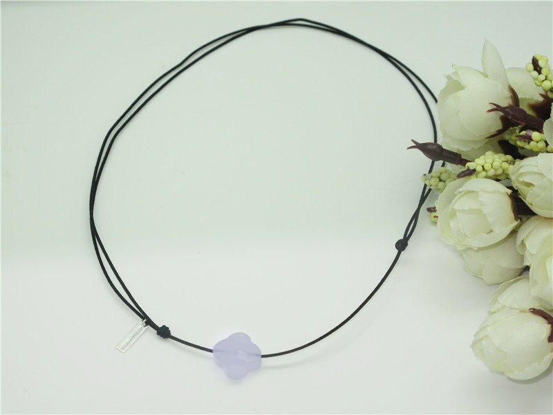 Free Shipping High Quality Gorgeous Four Leaf Clover Necklace Crystal Necklace Noble Women Gift