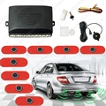 Car 8pcs Original Sensors 16.5mm Reverse Backup Radar 4 Front 4 Rear Beep Alarm Parking Sensors#J-1359