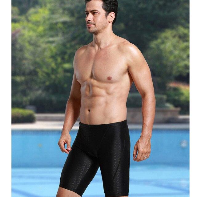 c868738a5f WYOTURN Professional Men Competitive Swim Trunks Shark Skin Swimwear Brand  Solid Jammer Swimsuit Fifth Pant Men briefs trunks
