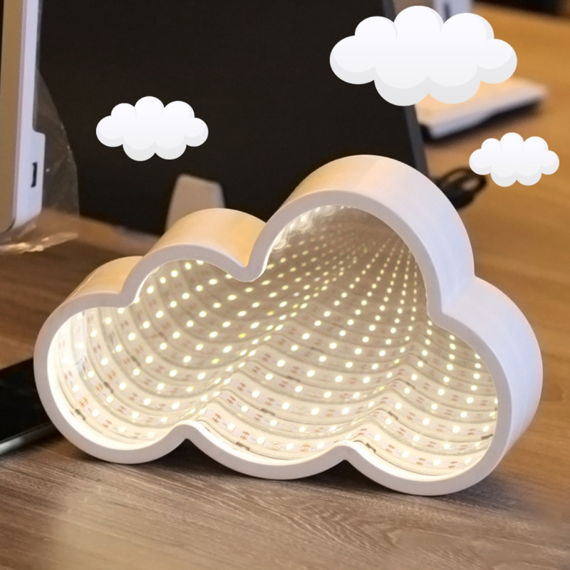 Creative LED 3D Night Light Cloud Tunnel Shape Child Room Bedside Lamp Decor New-M25