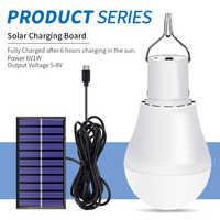 Lámparas solares LED 5 V ~ 8 V iluminación exterior emergencia 15 W Luz de jardín USB recargable bombilla Solar ahorro de Energía 2835 SMD