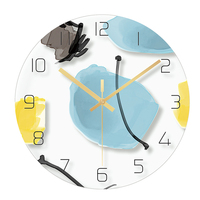 Creative Glass Slim Wall Saatk Mechanism 3d Watches Guess Women Watch Kitchen Relogio Parede Silent Saatk Nixie Watch W5231