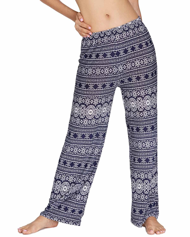 Plus Size 2XL   Wide     Leg     Pants   Trousers Women Summer Casual Loose Floral Print Elastic Waist Long   Pants   Female Streetwear Pantalon