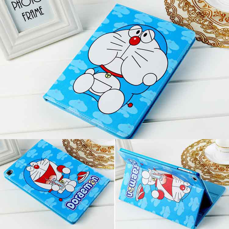 for Apple iPad Mini 4 Case Cartoon Doraemon Stand Case Auto Sleep Wake Up for iPad Mini 4 Cartoon Doraemon case Stylus Pen Gifts