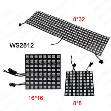 8*8/16*16/8*32 Pixel WS2812B Panel Screen DC5V Full Color 256 Pixels Digital Flexible LED Programmed Individually Addressable rgb led light matrix ws2812b flexible screen panel apa102 flexible led panel matrix
