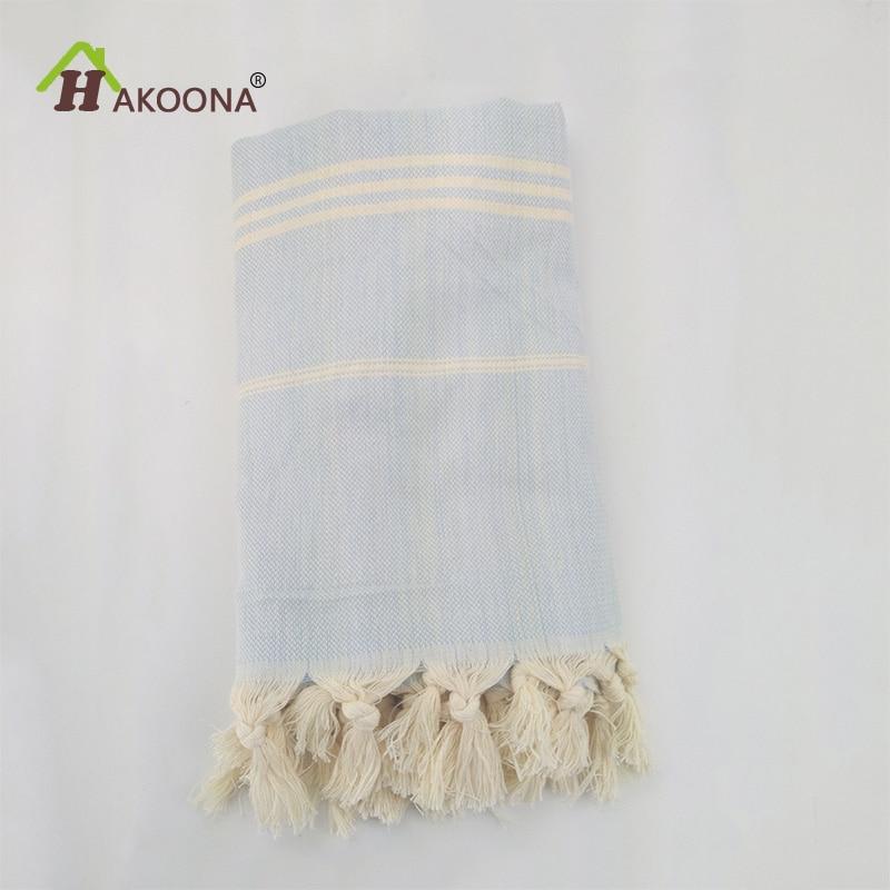 HAKOONA तुर्की स्नान तौलिया सूती कपड़े लटकन बड़ा समुद्र तट तौलिया