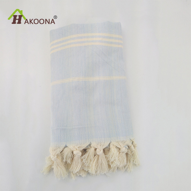 HAKOONA Turkish Bath Towels Cotton Fabric Tassel Big Beach Towel 100X180cm Summer Adults Stripes Thin Towel Wrapped Skirt