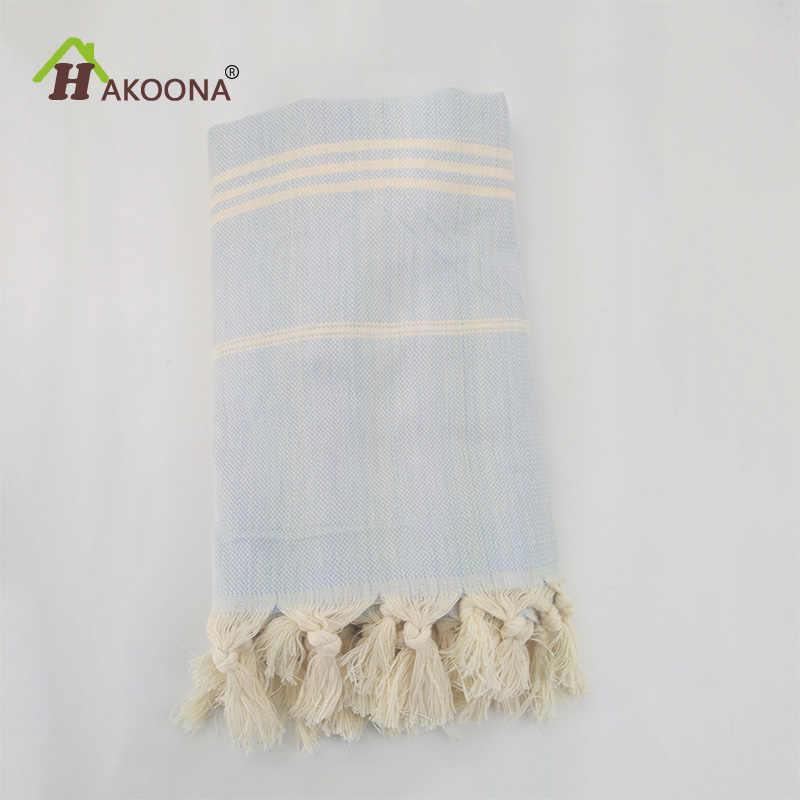 4358be0387f9 HAKOONA Турецкий Для ванной полотенца s хлопок ткань кисточкой Большое  пляжное полотенце см 180X100 см лето