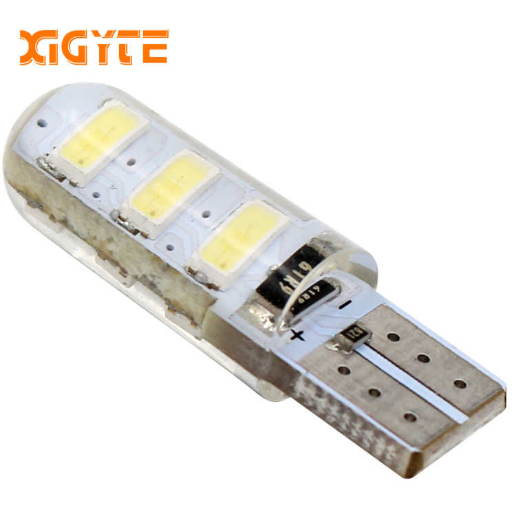 1pcs T10 W5W 6 SMD 5730 Led Silicone Car Light Silica Gel Waterproof Wedge Bulb Parking Lamp 6SMD 5630 LED Car accessories
