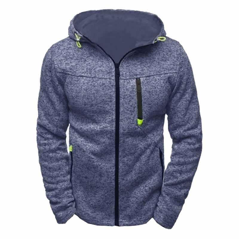 Laamei nowy marka klasyczne bluzy sweter mężczyźni jesień zamek patchworkowy sweter płaszcze przyczynowy Streetwear hiphopowy sweter
