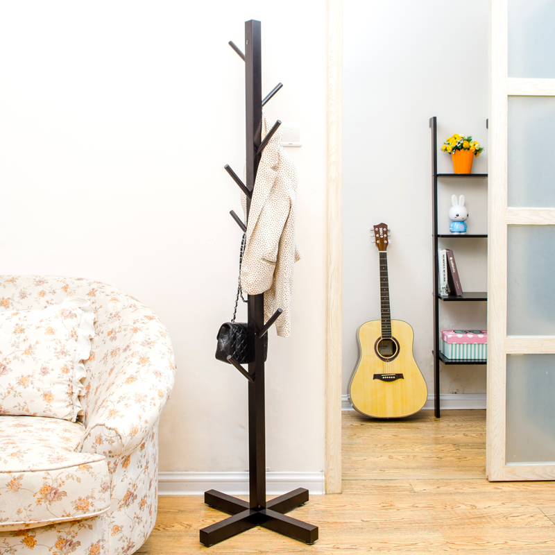simple wood coat rack hanger creative fashion ikea interior thickening folding clothes rack hanger floorin cabinet pulls from home improvement on