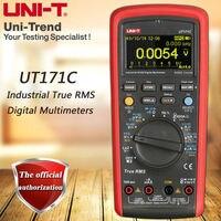 UNI-T ut171c rms industrial multímetro digital/display oled/loz baixa impedância entrada/medição de freqüência vfc/usb/bluetooth