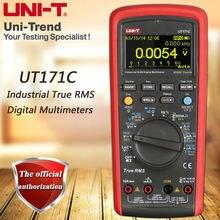 UNI T ut171c rms industrial multímetro digital/display oled/loz baixa impedância entrada/medição de freqüência vfc/usb/bluetooth