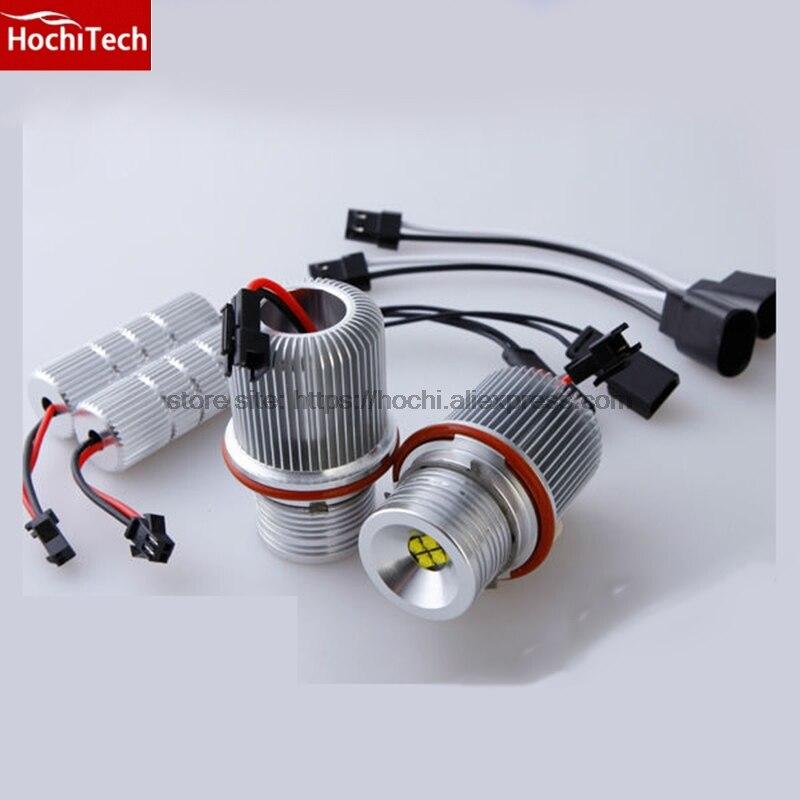 HochiTech 2 pièces 64 W/set haute qualité Ange Yeux indicateur LED 7000 K Blanc pour BMW e87 E39 E60 E61 E63 E65 E64 E66 E56 E83 x3
