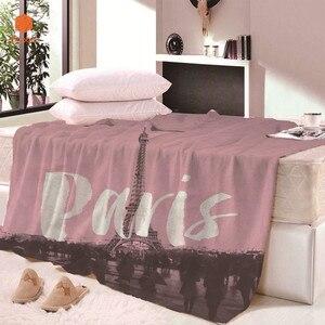Парижское супер мягкое удобное бархатное плюшевое одеяло для кровати, пляжное одеяло, покрывало, простыни, простыни для путешествий, CB68