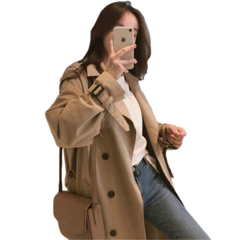 Women's Windbreaker Spring Coat Women Clothes 2019 Streetwear Long   Trench   Coats Female Outwear Sobretudo Feminino 783