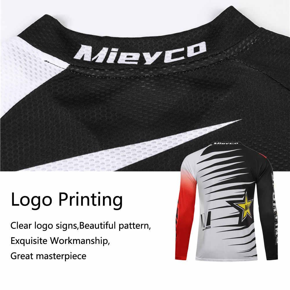 Pria Downhill Jersey Sepeda Gunung MTB T-shirt Off Road DH Pakaian Sepeda Motor Motorcross Olahraga BMX Bersepeda Pakaian