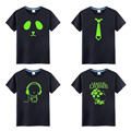 Children Cotton Fluorescent Personalized Novelty Luminous Brand Tee Tops Boys and Girls Night Light T Shirt Kids Clothes minions
