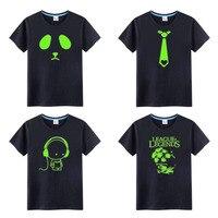 Enfants Coton Fluorescent Personnalisé Nouveauté Lumineux Marque Tee Tops Garçons et Filles Nuit Lumière T Shirt Enfants Vêtements minions