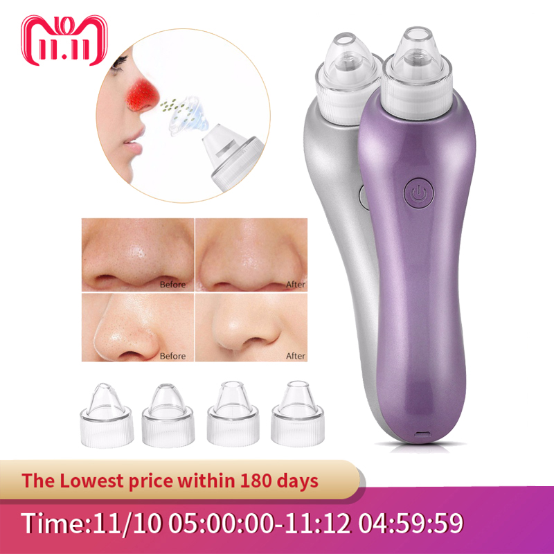 Pore Vacuum Cleaner Blackhead Removal Inhaler spot Acne Black Head Facial Cleaning Remover Eliminator Electric removedor Tools