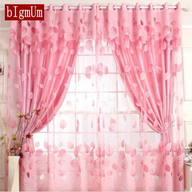 Online Shop Home Decor Brown Purple Drapes Sheer Window Curtains ...